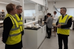 Paul Bristow and Michael Gove MP in the Dalton Seeds Lab