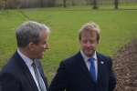 Paul with Damian Hinds at the University Site